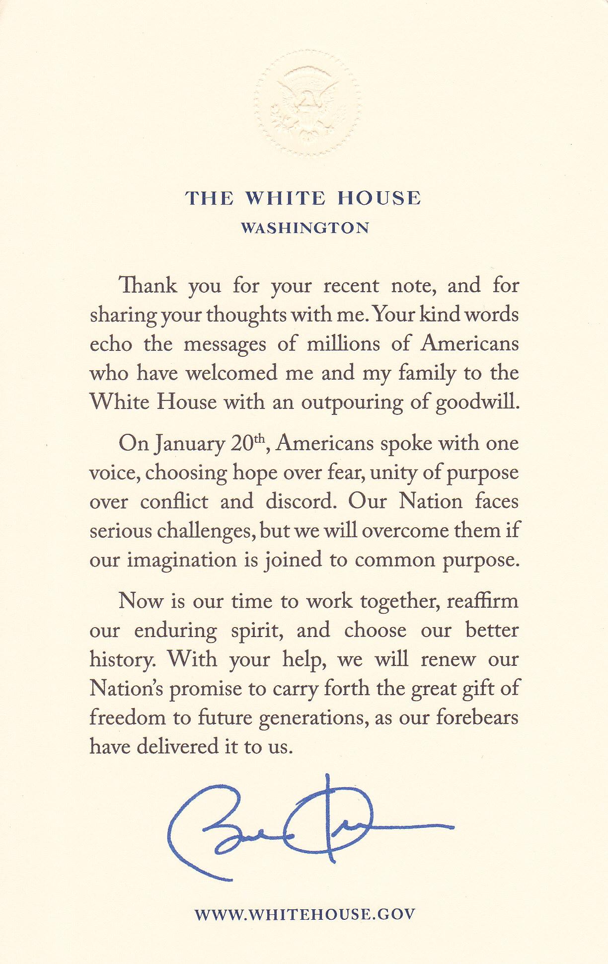 Obama Note