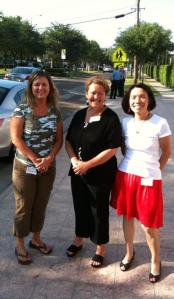 Amy Williams (center) with colleagues DeAnna Murrell and Pansy Gee at summer writing camp.