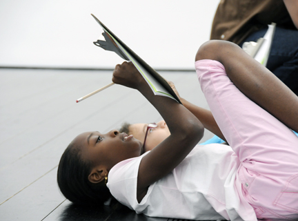 Students Writing at the Menil