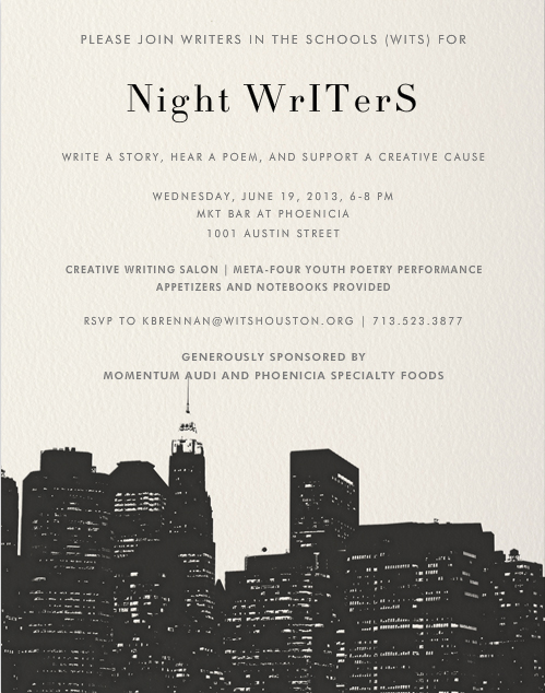 Night Writers Invite