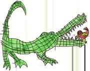 alligatorwithbirdinmouth